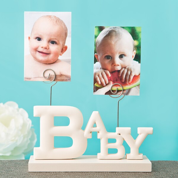 Rose White MDF Baby Photo Holder