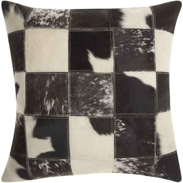 Mina Victory Dallas Animal Print Black/White Throw Pillow (20-inch x 20-inch) by Nourison