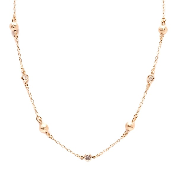 18k Gold-plated with Ball Link Necklace
