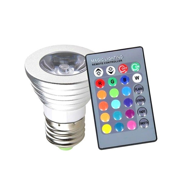 2-4 Piece Changing LED Magic Lamp Disco Party Light Bulb w/ Wireless Remote