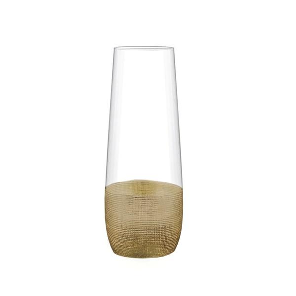 Fitz Floyd Gold Stemless Wine Flutes (Set of 4)