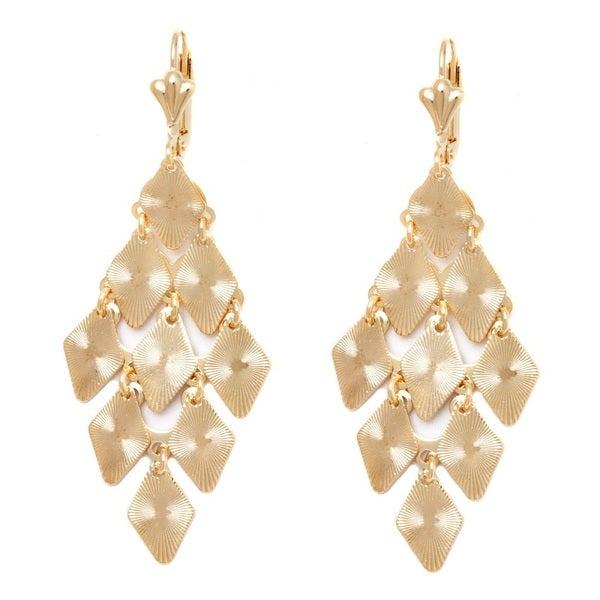 18k Goldplated Diamond Chandelier Earring