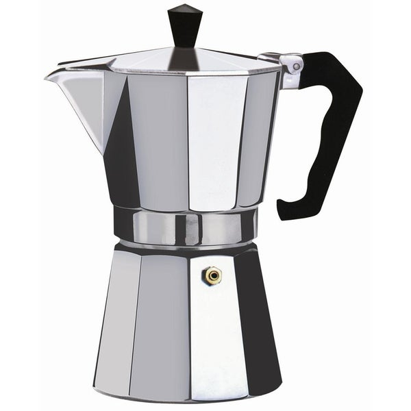 Brew-Fresh Silver-colored Stainless Steel Small Espresso Maker