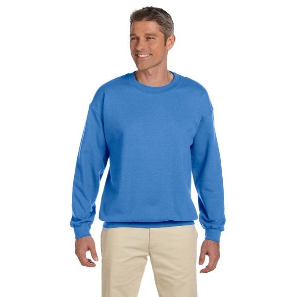 50/50 Super Sweats Nublend Fleece Men's Crew-Neck Columbia Blue Sweater