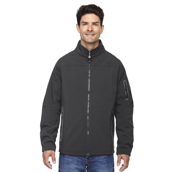Three-Layer Fleece Bonded Soft Shell Technical Men's Big and Tall Graphite 156 Jacket