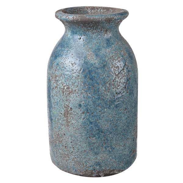 D7 Blue Clay 12-inch Table Vase