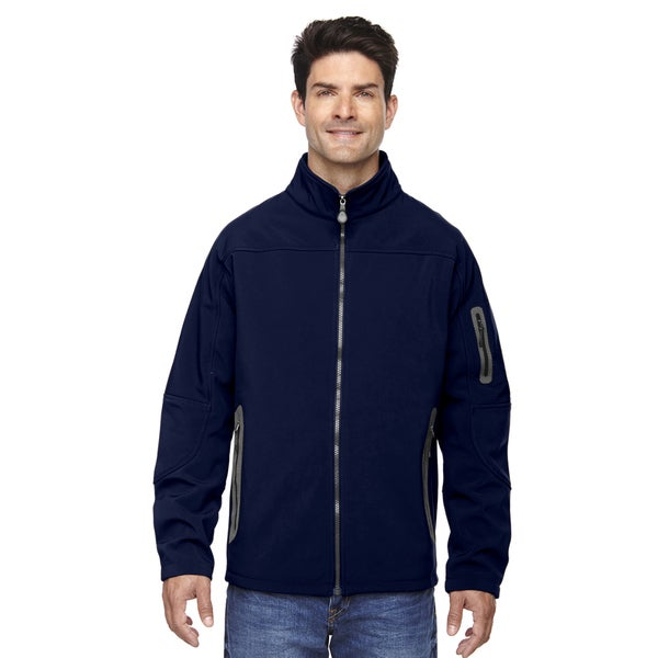 Three-Layer Fleece Bonded Soft Shell Technical Men's Classic Navy 849 Jacket