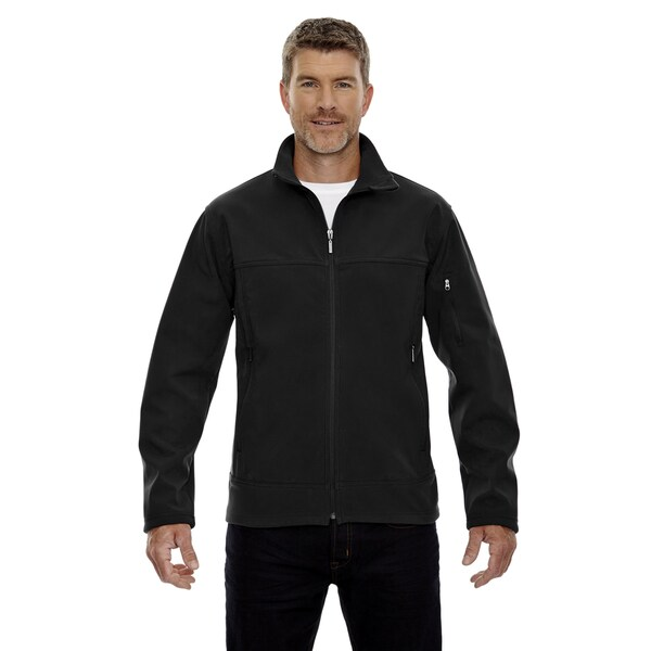 Three-Layer Fleece Bonded Men's Performance Soft Shell Men's Black 703 Jacket