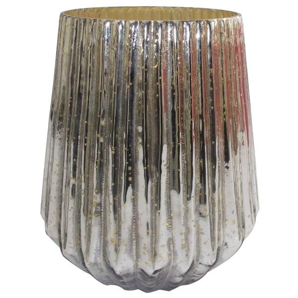 Mercury Glass 7.5-inch x 8-inch Vase