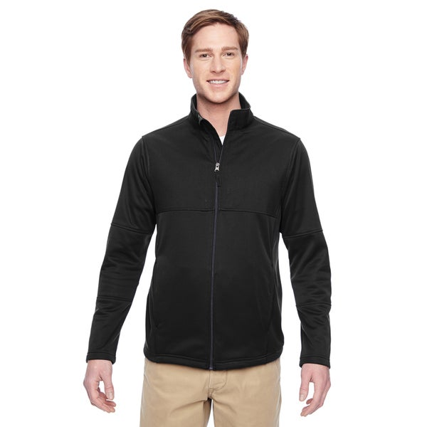 Task Men's Big and Tall Performance Fleece Full-Zip Men's Big and Tall Black Jacket