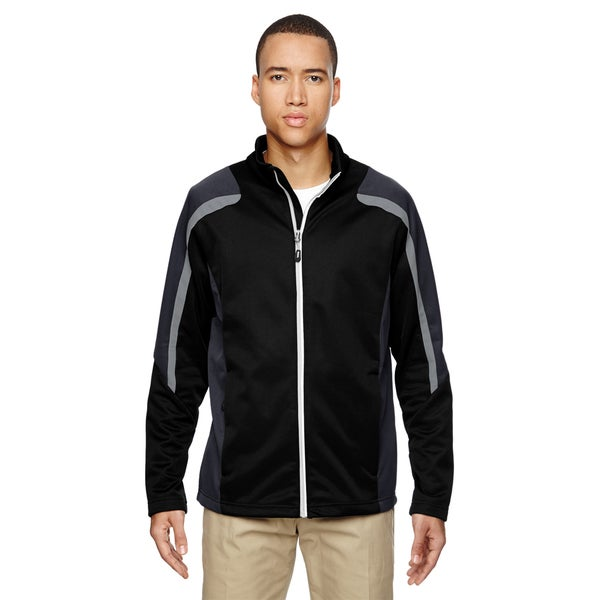 Strike Colorblock Fleece Men's Black 703 Jacket