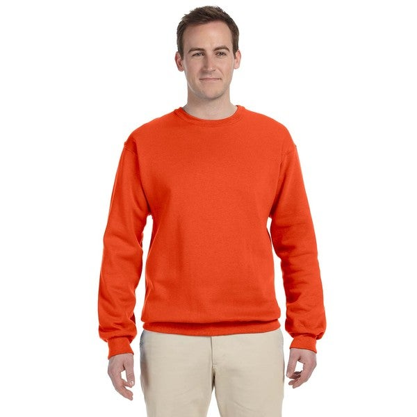 50/50 Nublend Fleece Men's Crew-Neck Burnt Orange Sweater 20484222