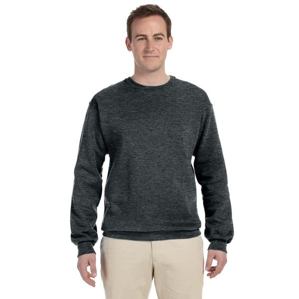 50/50 Nublend Fleece Men's Crew-Neck Black Heather Sweater