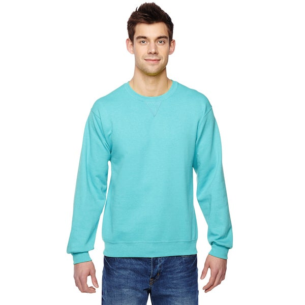 Sofspun Crew-Neck Men's Scuba Blue Sweatshirt 20484512