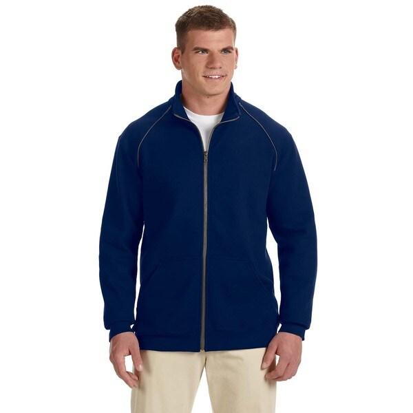 Premium Cotton 9-Ounce Fleece Full-Zip Men's Big and Tall Navy Jacket