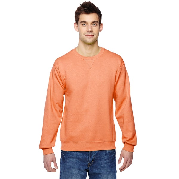 Sofspun Crew-Neck Men's Orange Sherbet Sweatshirt