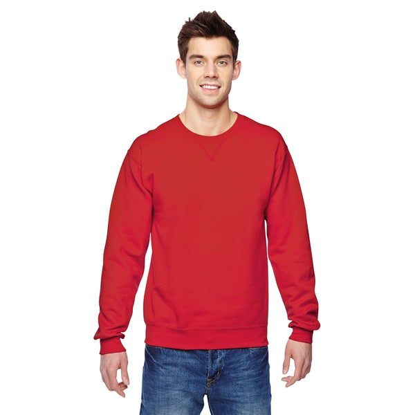 Sofspun Crew-Neck Men's Fiery Red Sweatshirt