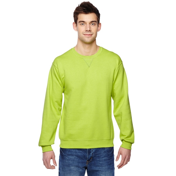 Sofspun Crew-Neck Men's Citrus Green Sweatshirt