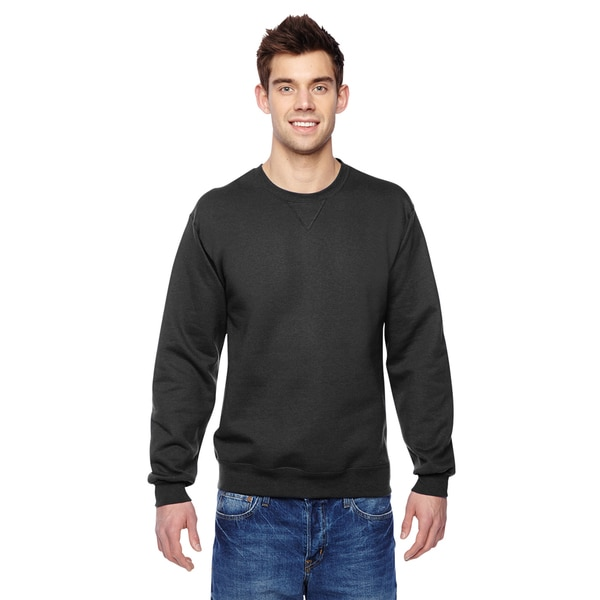 Sofspun Crew-Neck Men's Black Sweatshirt