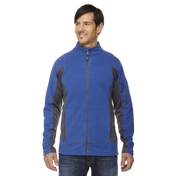 Generate Textured Fleece Men's Nautical Blue 413 Jacket