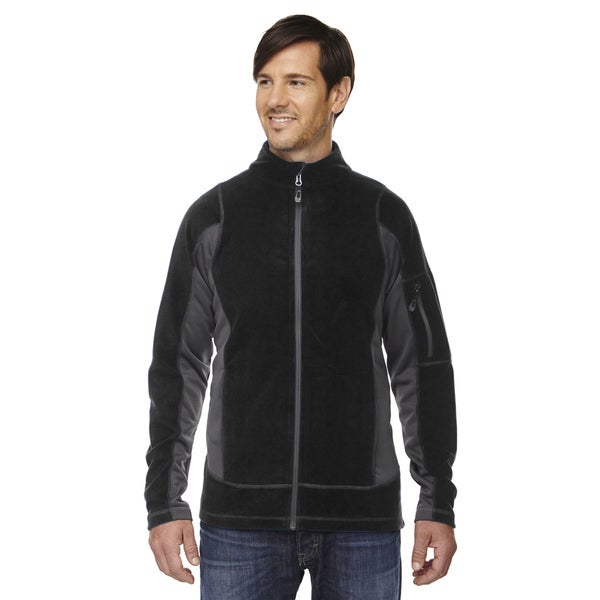 Generate Textured Fleece Men's Big and Tall Black 703 Jacket