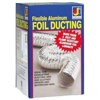"Dundas Jafine AF425ULPZW 4"" X 25' Aluminum Foil Ducting"
