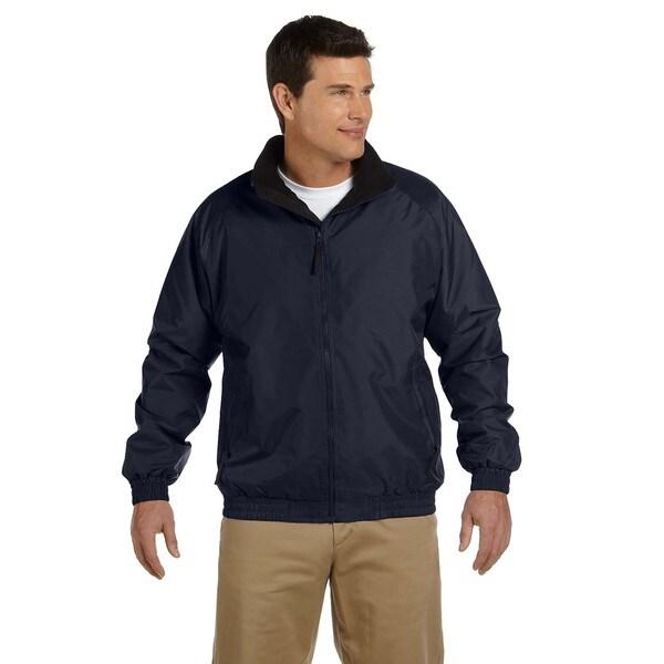 Fleece-Lined Nylon Men's Navy/Black Jacket