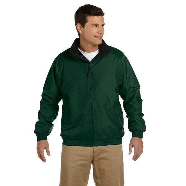 Fleece-Lined Nylon Men's Hunter/Black Jacket