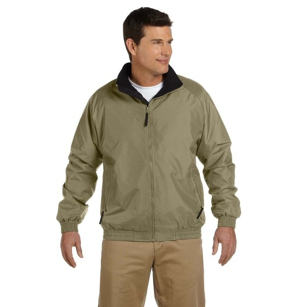 Fleece-Lined Nylon Men's British Khaki/Black Jacket