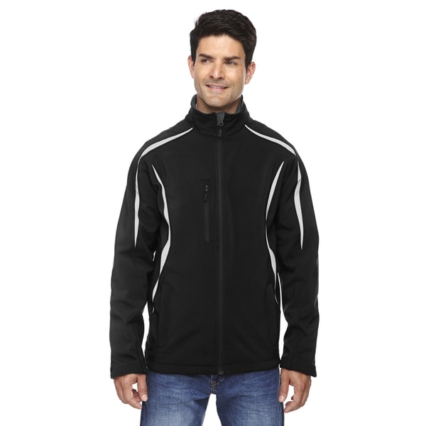 Enzo Colorblocked Three-Layer Fleece Bonded Soft Shell Men's Black 703 Jacket 20485907