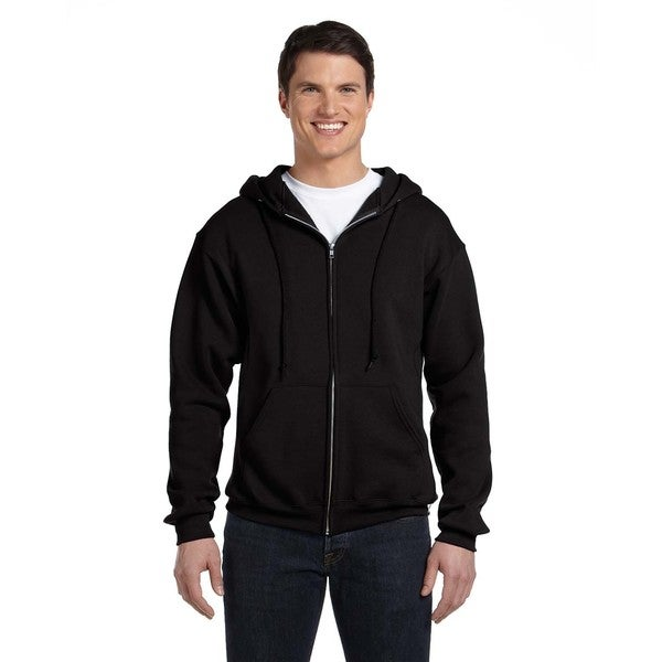 Dri-Power Men's Fleece Black Full-Zip Hood 20485940