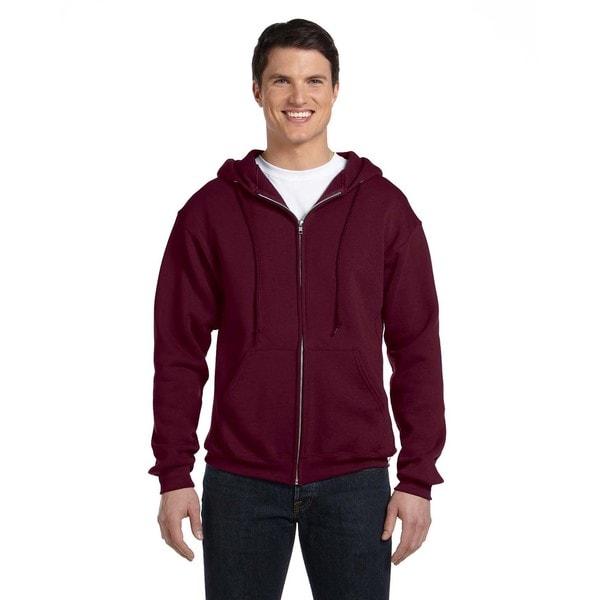 Dri-Power Men's Fleece Maroon Full-Zip Hood 20485951