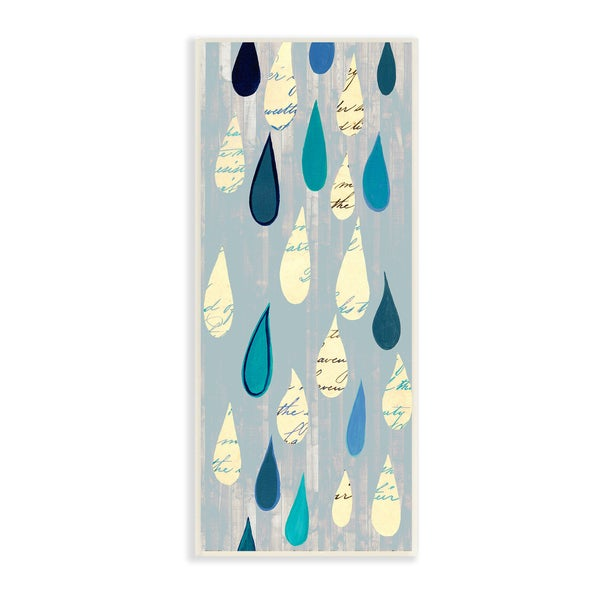 Stupell 'Shades of Blue Rain Drops' Wall Plaque Art 20486096