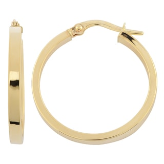 Fremada Italian 14k Yellow Gold 2.5x20-mm High Polish Round Hoop Earrings