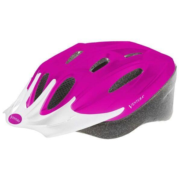 Ventura Matte Pink Plastic Sport Helmet