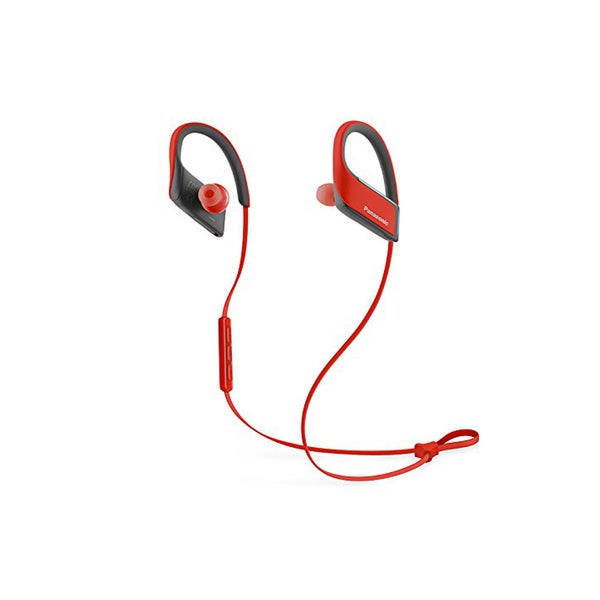 Panasonic Wings Wireless Bluetooth Earbuds with Mic and Controller (Red)