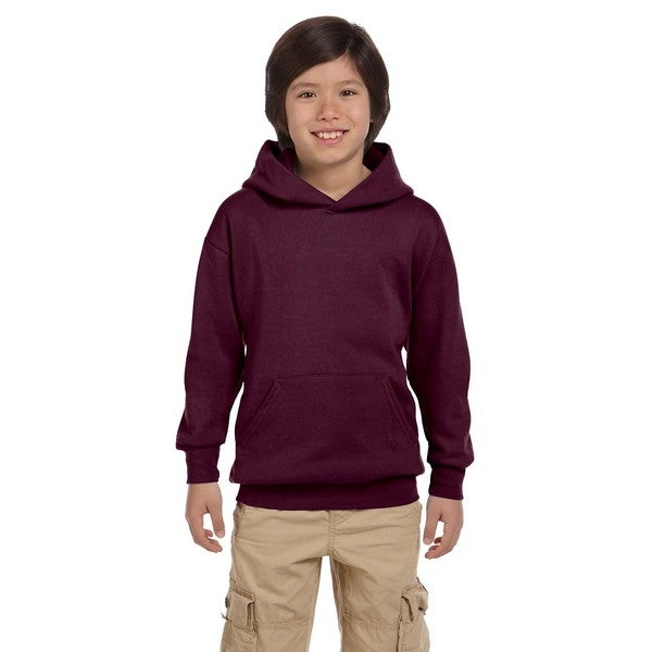 Hanes Boys' Maroon Comfortblend Polyester Ecomart Pullover Hoodie