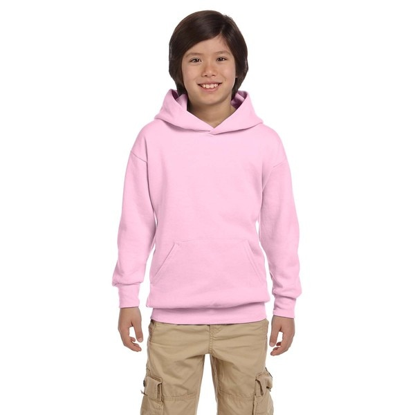 Hanes Youth Comfortblend Ecosmart Pale Pink Polyester Pullover Hoodie