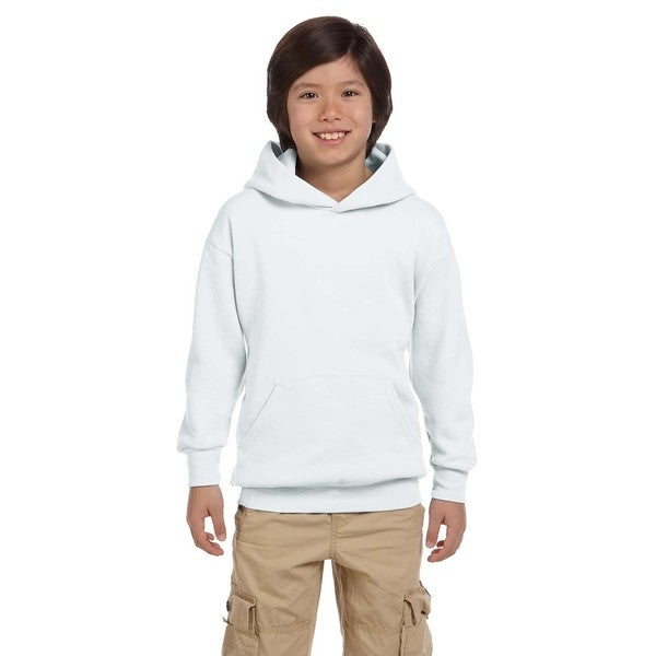 Youth Comfortblend Ecosmart White Pullover Hoodie 20486618