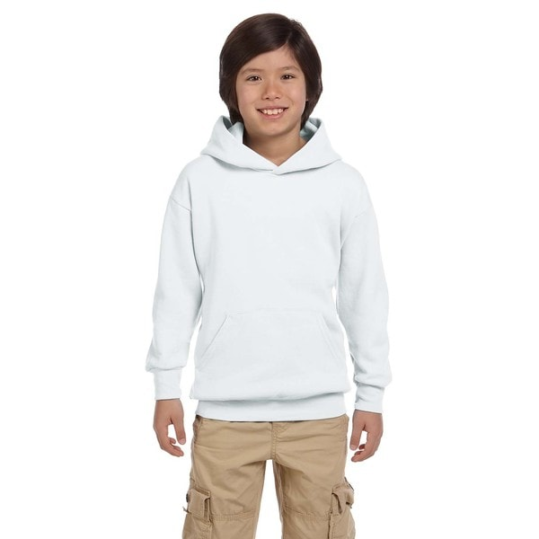 Youth Comfortblend Ecosmart White Pullover Hoodie 20486617