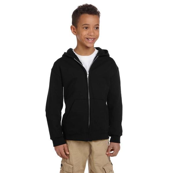 Champion Youth Black Fleece Full-zip Hoodie