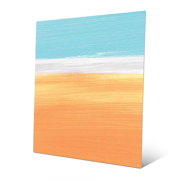 'Nostalgic Wild Sky' Vertical Abstract Wall Art on Metal