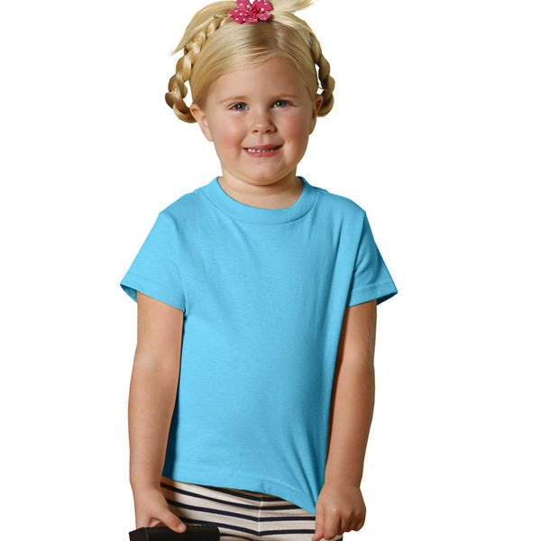 Rabbit Skins Youth Aqua-colored Cotton Short-sleeve Jersey T-shirt