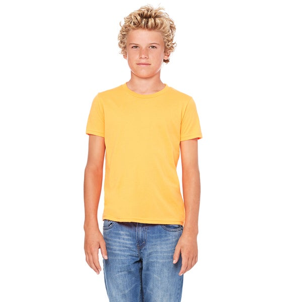Youth Neon Orange Jersey Short-sleeve T-shirt