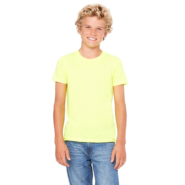 Jersey Neon Yellow Youth Short-sleeve T-Shirt