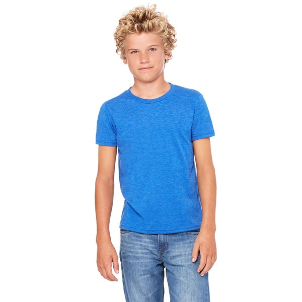 Jersey Youth True Royal Blue Triblend Short-sleeved T-shirt