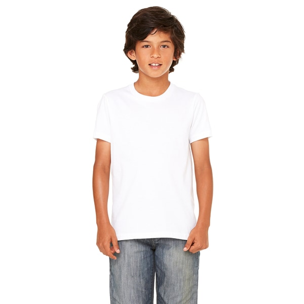Youth White Jersey Short-sleeve T-shirt