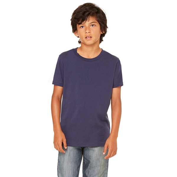 Jersey Youth Boys' Navy Blue Short-sleeve T-shirt
