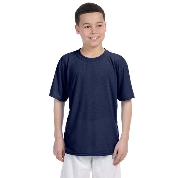 Boys' Youth Performance Navy T-Shirt