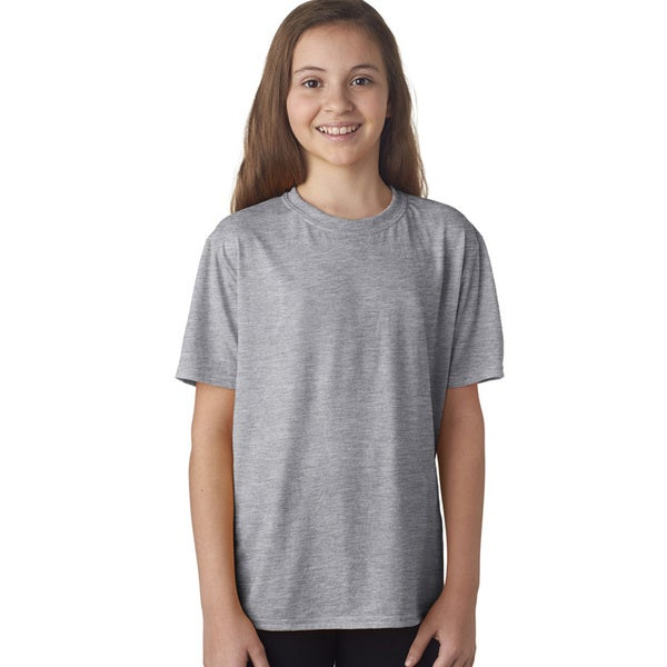 Youth Grey Performance Sport T-shirt